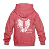 Daddy Guardian Angel Gildan Heavy Blend Youth Hoodie (CK3561) - heather red