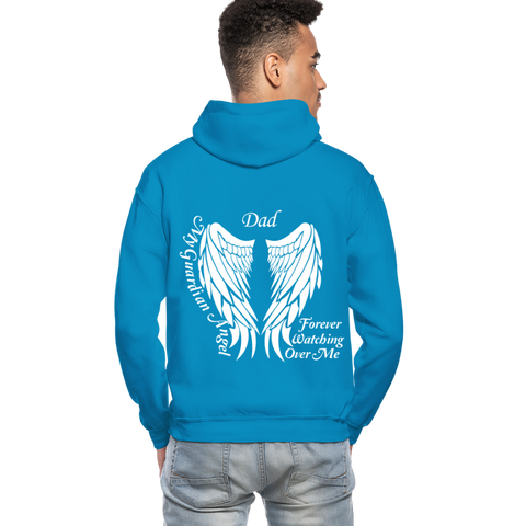 Dad Guardian Angel Gildan Heavy Blend Adult Hoodie (CK3563) - turquoise