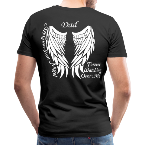 Dad Guardian Angel Men's Premium T-Shirt (CK3563) - black