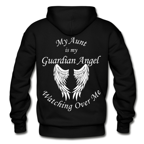 Aunt Guardian Angel Gildan Heavy Blend Adult Hoodie (CK3550) - black
