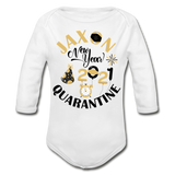Jaxon New Year Organic Long Sleeve Baby Bodysuit - white