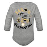 Jaxon New Year Organic Long Sleeve Baby Bodysuit - heather gray