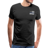 Favorite Police Officer Calls Me Dad Back The Blue Men's Premium T-Shirt (CK3706) - black