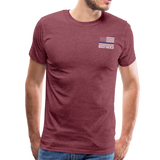 Favorite Police Officer Calls Me Dad Back The Blue Men's Premium T-Shirt (CK3706) - heather burgundy