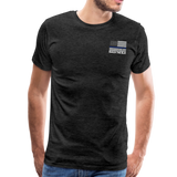 Favorite Police Officer Calls Me Dad Back The Blue Men's Premium T-Shirt (CK3706) - charcoal gray