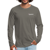 Being a Grammy Makes My Life Complete Men's Premium Long Sleeve T-Shirt - asphalt gray