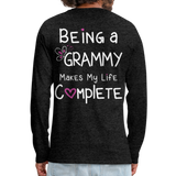 Being a Grammy Makes My Life Complete Men's Premium Long Sleeve T-Shirt - charcoal gray