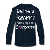 Being a Grammy Makes My Life Complete Men's Premium Long Sleeve T-Shirt - deep navy