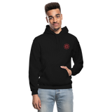 Gray Firefighter Gildan Heavy Blend Adult Hoodie - black