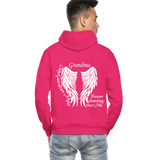 Grandma Guardian Angel Gildan Heavy Blend Adult Hoodie (CK3566) - fuchsia
