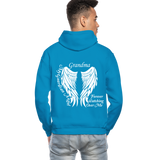 Grandma Guardian Angel Gildan Heavy Blend Adult Hoodie (CK3566) - turquoise