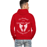 Husband Guardian Angel Gildan Heavy Blend Adult Hoodie (CK3555) - red