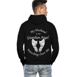 Husband Guardian Angel Gildan Heavy Blend Adult Hoodie (CK3555) - black
