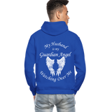 Husband Guardian Angel Gildan Heavy Blend Adult Hoodie (CK3555) - royal blue