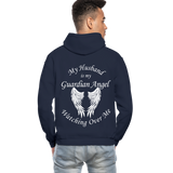 Husband Guardian Angel Gildan Heavy Blend Adult Hoodie (CK3555) - navy