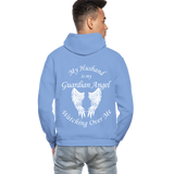 Husband Guardian Angel Gildan Heavy Blend Adult Hoodie (CK3555) - carolina blue