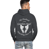 Husband Guardian Angel Gildan Heavy Blend Adult Hoodie (CK3555) - charcoal gray