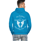 Husband Guardian Angel Gildan Heavy Blend Adult Hoodie (CK3555) - turquoise