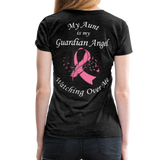 Aunt Guardian Angel Cancer Ribbon Women's Premium T-Shirt - charcoal gray
