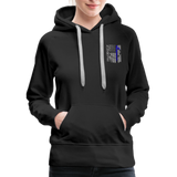 Nurse Flag Rod Flag Women's Premium Hoodie (CK1966) - black