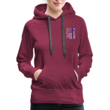 Nurse Flag Rod Flag Women's Premium Hoodie (CK1966) - burgundy