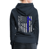 Nurse Flag Rod Flag Women's Premium Hoodie (CK1966) - navy