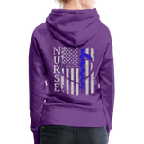 Nurse Flag Rod Flag Women's Premium Hoodie (CK1966) - purple