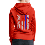 Nurse Flag Rod Flag Women's Premium Hoodie (CK1966) - red