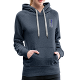 Nurse Flag Rod Flag Women's Premium Hoodie (CK1966) - heather denim