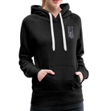 Nurse Flag Rod Flag Women's Premium Hoodie (CK1966) - charcoal gray
