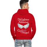 My Daughter Was So Amazing God Made Her An Angel Gildan Heavy Blend Adult Hoodie (CK3579) - red