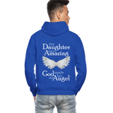 My Daughter Was So Amazing God Made Her An Angel Gildan Heavy Blend Adult Hoodie (CK3579) - royal blue