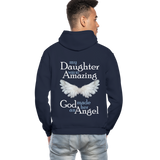 My Daughter Was So Amazing God Made Her An Angel Gildan Heavy Blend Adult Hoodie (CK3579) - navy