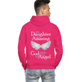 My Daughter Was So Amazing God Made Her An Angel Gildan Heavy Blend Adult Hoodie (CK3579) - fuchsia