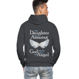 My Daughter Was So Amazing God Made Her An Angel Gildan Heavy Blend Adult Hoodie (CK3579) - charcoal gray