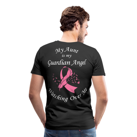 Aunt Guardian Angel Breast Cancer Men's Premium T-Shirt - black