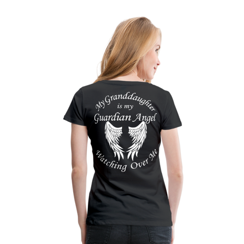 Granddaughter Guardian Angel Women's Premium T-Shirt (CK3574) - black