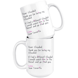Funny Stepdad Gift for Father's Day - Dear Stepdad 15 oz Coffee Mug