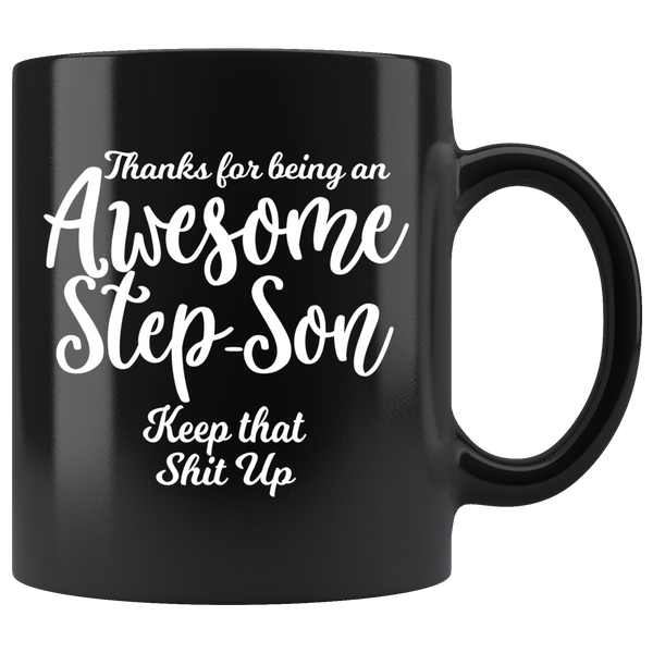 Awesome Step Son 11 oz black coffee mug