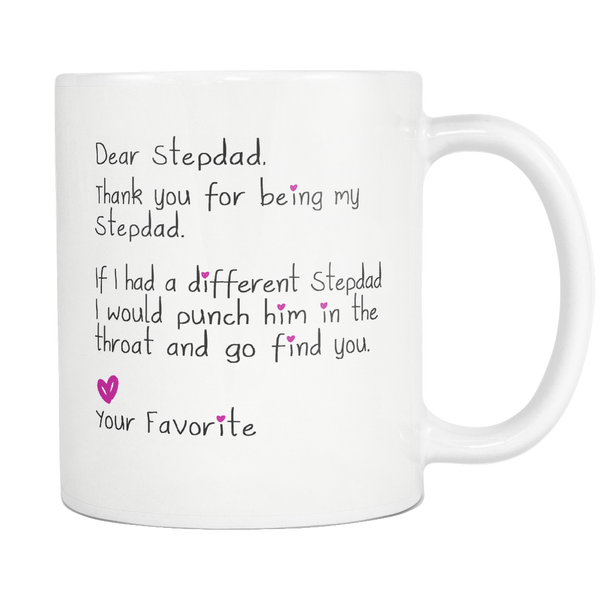 Funny Stepdad Gift for Father's Day - Dear Stepdad