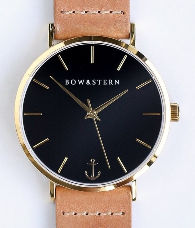 Bow and Stern - Swiss Quartz Watch - Gold and Black Watch