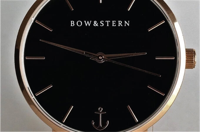 Bow and Stern - Swiss Quartz Watch with an anchor