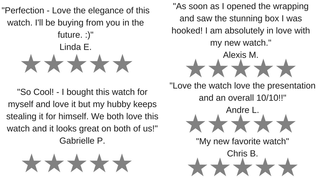 What our customers Say - Bow and Stern Swiss Quartz Watches