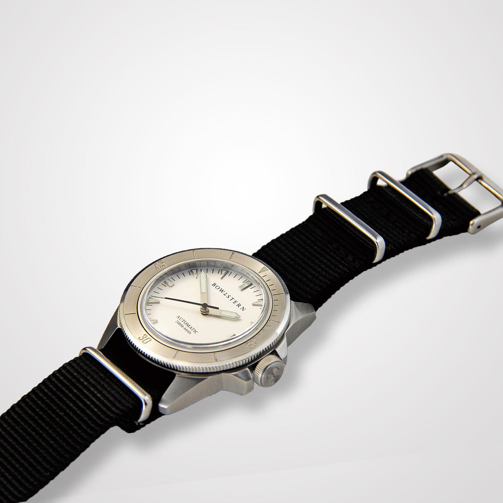 ABYSS Automatic Dive Watch - Brushed Silver Case