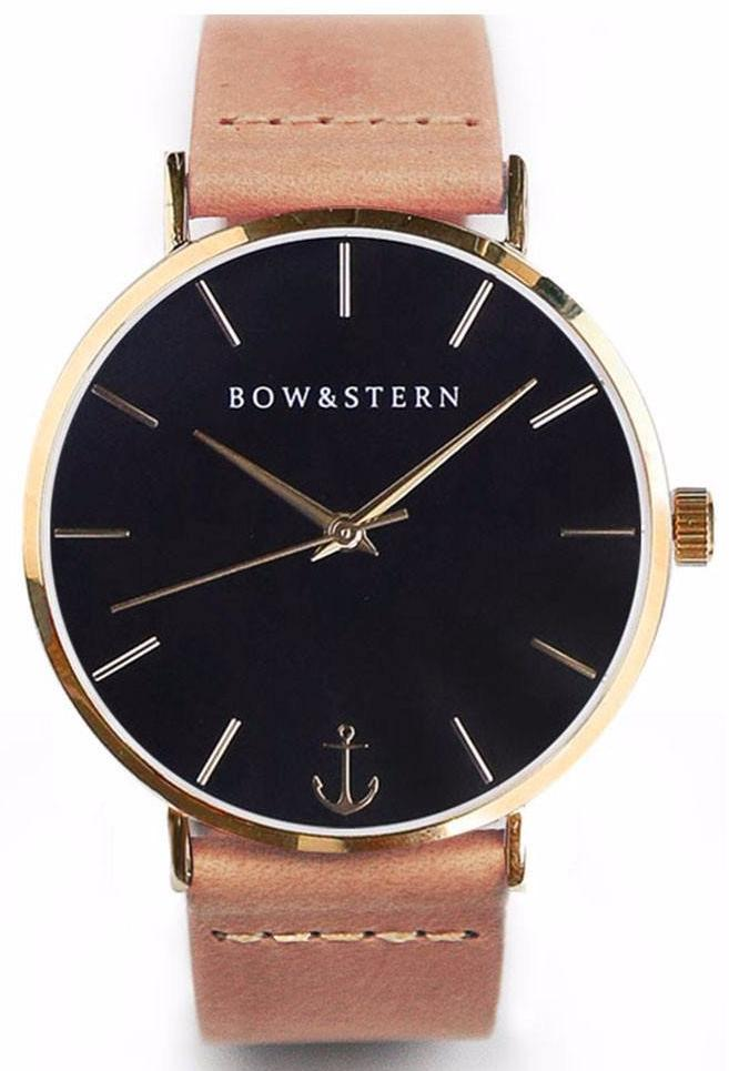 Gold and Black Watch | Tan Leather Strap - Gold Watch - AfterPay Watch - Bow and Stern Swiss Quartz Watch