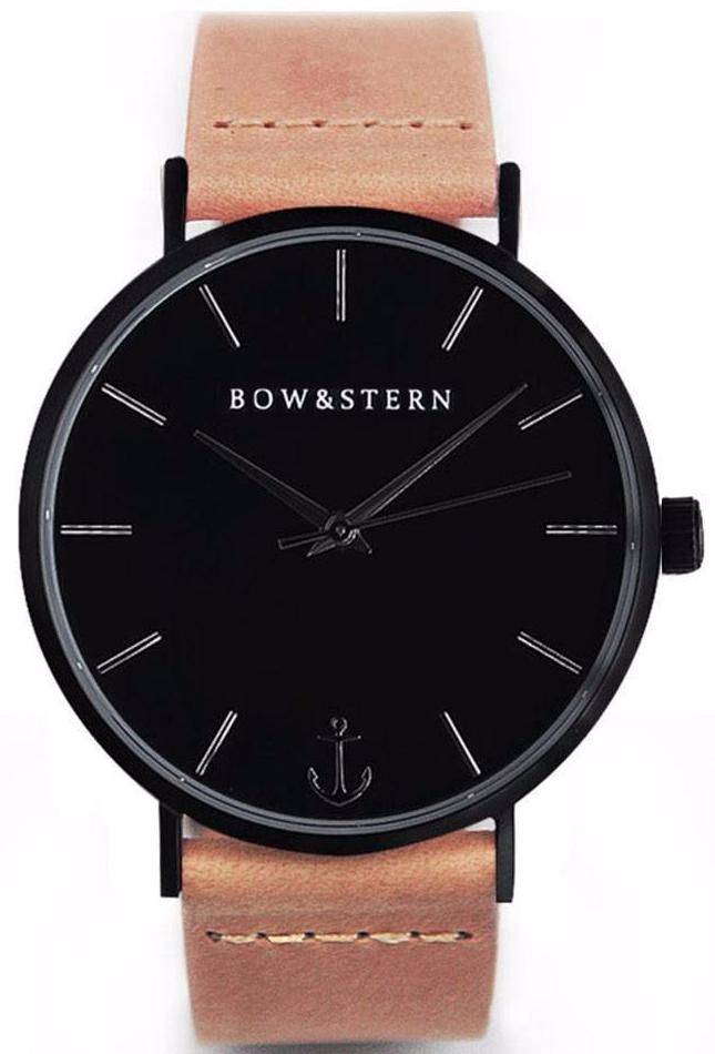 Baltic - Matte Black Watch | Tan Leather Strap - AfterPay Watch - Bow and Stern Swiss Quartz Watch