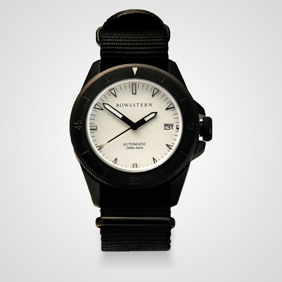 ABYSS Automatic Dive Watch - Matte Black Case