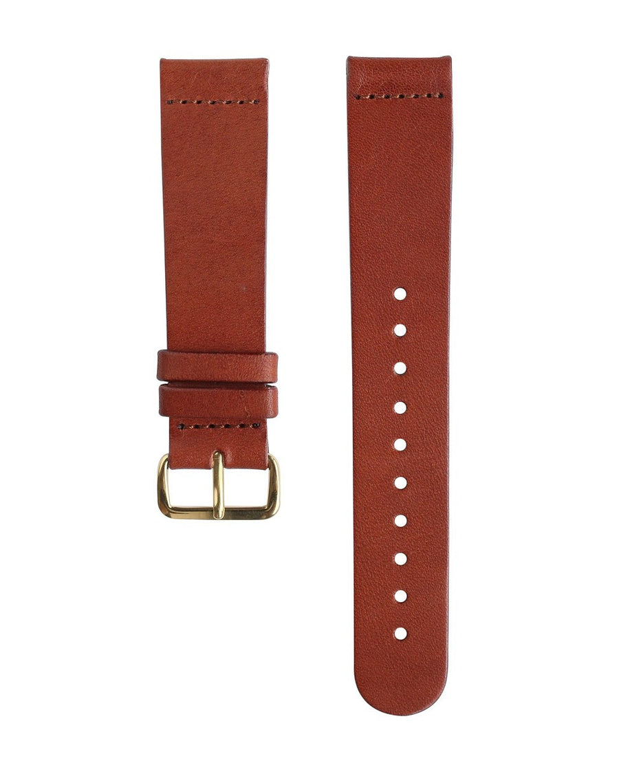 Brown Leather Band - Gold Buckle