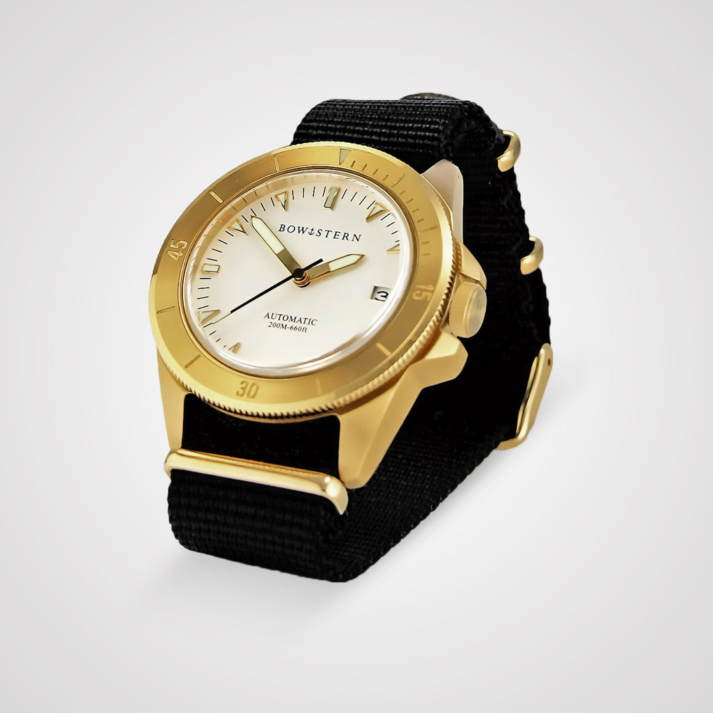 ABYSS Automatic Dive Watch - Brushed Gold Case