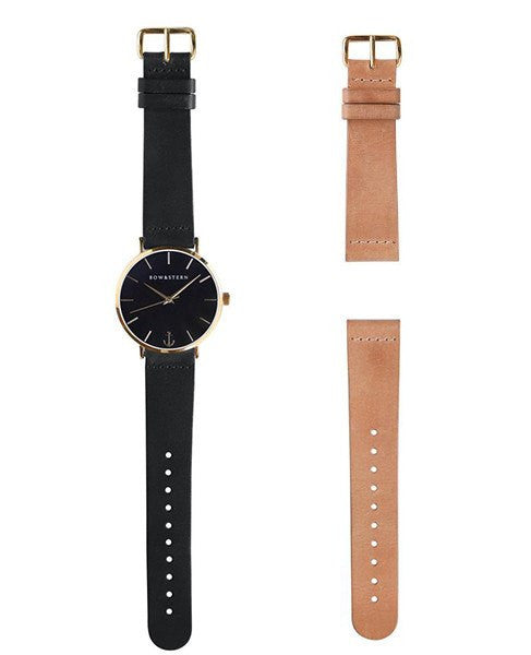 Monterey - Gold and Black Watch |  2 Band Combo